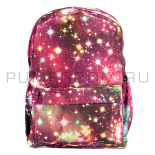 Бордовый рюкзак с космическим принтом Backpack Galaxy Dark Red 2017