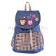 Джинсовый городской рюкзак-мешок с совами Nikki Nanaomi Owl backpack Chess