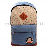 Голубой тканевый рюкзак с якорями Paul Frank Backpack Anchor Light Blue