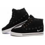 Зимние замшевые кроссовки Nike Sweet Classic Leather Black Winter