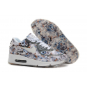 Серые цветочные кроссовки Nike Air Max 90 Hyperfuse Flower grey roses