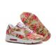 Бело-красные цветочные кроссовки Nike Air Max 90 Hyperfuse Flower White Red Rose