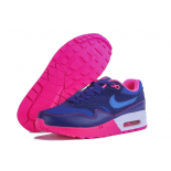 Женские синие кроссовки Nike Air Max 1 87 Essential Premium QS Blue Bright Pink