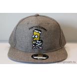 """Серая бейсболка с прямым козырьком """"Барт Симпсон"""" Bart Simpson Snapback"""