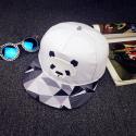 "Белая бейсболка с прямым козырьком ""Панда"" Panda Snapback 3d Triangle White"