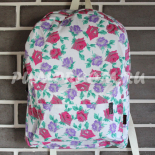 Белый цветочный рюкзак Flower Backpack White Red Violet Rose Autumn