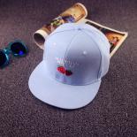 """Голубая бейсболка с прямым козырьком """"Клубника"""" Snapback Blue Strawberry"""