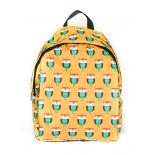 Жёлтый городской рюкзак с совами Yellow Orange Owl Backpack SL