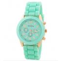 Мятные силиконовые женские часы Geneva Mint Watch