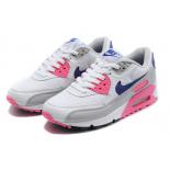 Бело/розовые женские кроссовки Nike Air Max 90 White Pink Wmns Classic