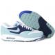 Женские голубые кроссовки Nike Air Max 87 Womens Shoes Black White Light Blue