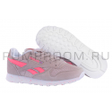 Бежевые/розовые замшевые женские кроссовки Reebok Classic Suede Beige Pink Dots WMNS