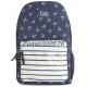 Синий рюкзак с якорями Nikki Nanaomi Backpack Blue Anchor