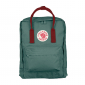 Бирюзовый-красный рюкзак Fjallraven Kanken Classic Forest Green Red Premium 2018