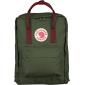 Зелёный тканевый рюкзак Fjallraven Kanken Classic Forest Green Red Premium