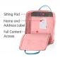 Розовый тканевый рюкзак Fjallraven Kanken Classic Bag PinkРозовый/синий тканевый рюкзак Fjallraven Kanken Classic Bag Pink Blue
