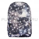 Серый рюкзак с космическим принтом Backpack Gray Galaxy 2018