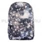Серый рюкзак с космическим принтом Backpack Gray Pink Galaxy 2018