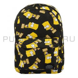 Чёрный тканевый рюкзак Bart Simpson Backpack Black 2018