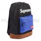 Чёрный/синий тканевый рюкзак Backpack Supreme Black Blue