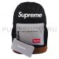 Чёрный/серый тканевый рюкзак Backpack Supreme Black Gray