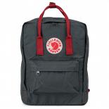ed151ed2bec8 -54% Тёмно-серый тканевый рюкзак Fjallraven Kanken Classic Graphite Red