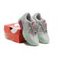 Серые женские кроссовки Nike Womens Air Max 90 Mint Red Gray Premium 2017