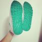 Белые/зелёные женские кроссовки Nike Womens Air Max 90 White Green Rainbow Premium 2017