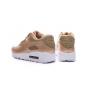 Золотые женские кроссовки Nike Womens Air Max 90 Gold Woman Premium 2017