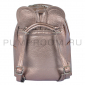 Бронзовый кожаный рюкзак с клепками Leather Mini Backpack Mouse Ear Bronze