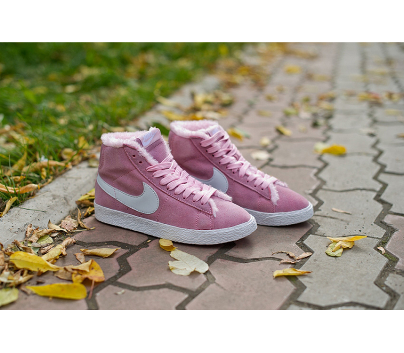5b3465c3 -65% Зимние розовые кроссовки Women Nike Blazer Premium Retro Pink