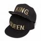 Набор из 2х бейсболок с прямым козырьком King and Queen Snapbacks Black Bronze