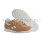 Коричневые замшевые женские кроссовки Reebok Classic Suede Wmns Sand White