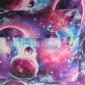 Фиолетовый/синий рюкзак с космическим принтом Backpack Blue Violet Galaxy 2016