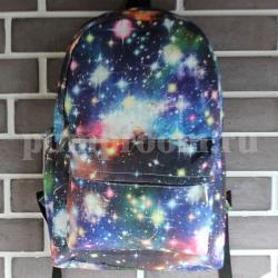 Синий рюкзак с космическим принтом Backpack Blue Starfall Galaxy 2016