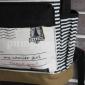 Чёрный тканевый рюкзак в полоску Backpack My Camier Girl Black Strip