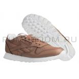 Коричневые кожаные женские кроссовки Reebok Classic Leather Brown Wmns