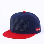 Синяя/красная бейсболка с прямым козырьком Damp Snapback Blue Red Rubber
