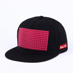 Чёрная/розовая бейсболка с прямым козырьком Damp Snapback Black Pink Rubber