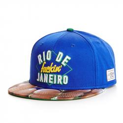 Синяя бейсболка с прямым козырьком Cayler & Sons Rio de Janeiro