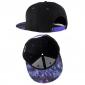 Чёрная бейсболка с прямым козырьком Galaxy Black Snapback Wuke