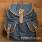 Синий джинсовый рюкзак-мешок Woman Mini Backpack Jeans Blue 2