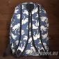 Синий тканевый рюкзак Лебеди Backpack Swans Blue