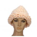 """Персиковая зимняя шапка """"Крупная вязка"""" Beanie Large Viscous Peach"""