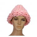 """Розовая зимняя шапка """"Крупная вязка"""" Beanie Large Viscous Pink"""