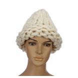 """Бежевая зимняя шапка """"Крупная вязка"""" Beanie Large Viscous Beige"""