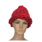 """Бордовая зимняя шапка """"Крупная вязка"""" Red Beanie Large Viscous"""