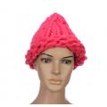 """Ярко-розовая зимняя шапка """"Крупная вязка"""" Beanie Large Viscous Rose Red"""