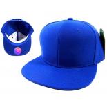 Синяя бейсболка с прямым козырьком без логотипа No Logo Blank Blue Snapback