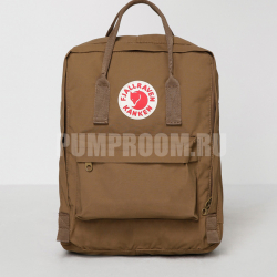 Коричневый тканевый рюкзак Fjallraven Kanken Classic Bag Brown Sand